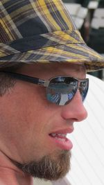 Charlie Dentel, shades and hat